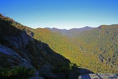Widok od komin skały Zdjęcia Royalty Free