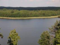 Widok od Ladakalnis wzgórza (AukÅ ¡ taitija park narodowy, Lithuania) Obrazy Stock