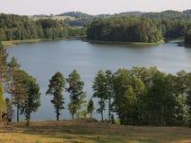 Widok od Ladakalnis wzgórza (AukÅ ¡ taitija park narodowy, Lithuania) Obraz Stock