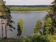Widok od Ladakalnis wzgórza (AukÅ ¡ taitija park narodowy, Lithuania) Fotografia Royalty Free