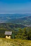 Widok od śladu Pilsko szczyt od Beskidy gór Zdjęcia Royalty Free