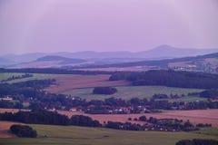 Widok od Loebauer góry lodowa Obrazy Royalty Free