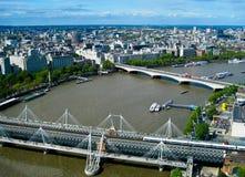 Widok od Londyńskiego oka Fotografia Royalty Free