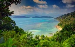 Widok od Long Beach, Ko Chang wyspa, Tajlandia Fotografia Stock