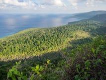Widok od Margaret pagórka punktu obserwacyjnego, Bożenarodzeniowa wyspa, Australia fotografia royalty free