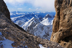 Widok od Marmolada, w Włochy góra Fotografia Stock