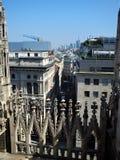 Widok od Mediolańskiej katedry drapacze chmur Fotografia Royalty Free