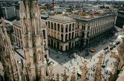 Widok od Mediolańskiej katedry (Duomo) milan Fotografia Royalty Free