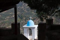 Widok od monasteru w górzystym Corinthia, Grecja fotografia stock