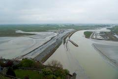 Widok od Mont saint-michel, Normandy, Francja Obraz Stock