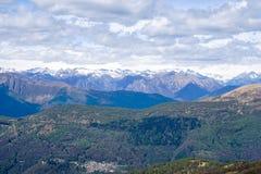 Widok od Monte Lema Szwajcaria zdjęcie stock