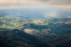 widok od Monte Titano w San Marino fotografia royalty free