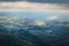 widok od Monte Titano w San Marino obrazy royalty free