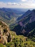 Widok od Montserrat monasteru Barcelona Canalonia Hiszpania obraz royalty free