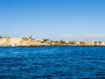 Widok od morza forteca Rhodes Zdjęcie Royalty Free