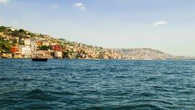 Widok od morza Posillipo wzgórze, Naples i błękitny, nawadnia Zdjęcia Royalty Free