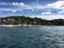 Widok od morza wyspa Bali Obraz Stock