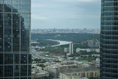 Widok od Moskwa drapaczy chmur Obraz Royalty Free
