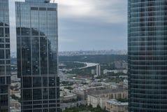 Widok od Moskwa drapaczy chmur Fotografia Stock