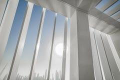 Widok od mosta drapacze chmur biznes zatoki okręg Obraz Royalty Free