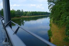 Widok od mosta na rzece zdjęcie royalty free