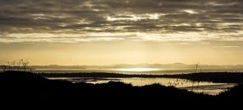 Widok od Mt Wellington wschodu słońca Zdjęcie Stock