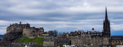 Widok od muzeum narodowego Szkocja, Edinburgh - Fotografia Royalty Free