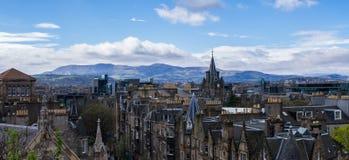 Widok od muzeum narodowego Szkocja, Edinburgh - Obraz Royalty Free