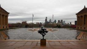 Widok od muzeum sztuki w Filadelfia, Pennsylwania zdjęcie wideo