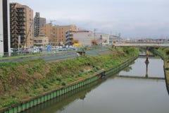 widok od nadokiennego lotniska Ekspresowy HARUKA, Osaka Obraz Royalty Free