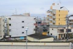 widok od nadokiennego lotniska Ekspresowy HARUKA, Osaka Zdjęcia Royalty Free