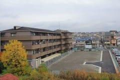 widok od nadokiennego lotniska Ekspresowy HARUKA, Osaka Fotografia Stock