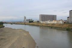 widok od nadokiennego lotniska Ekspresowy HARUKA, Osaka Obrazy Stock