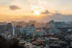 Widok od Naksan parka Seul obrazy royalty free