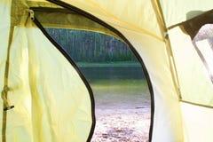 Widok od namiotu Zdjęcia Royalty Free