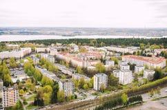 Widok od Nasinneula wierza od Tampere Finlandia Zdjęcie Stock