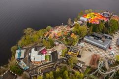 Widok od Nasinneula wierza od Tampere Finlandia Zdjęcia Stock