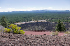 Widok od Newberry wulkanu fotografia stock