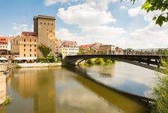 Widok od Niemcy połysku miasto Zgorcelec Obrazy Stock