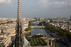 Widok od Notre Damae Zdjęcia Stock