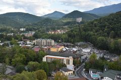 Widok od Ober Gatlinburg w Tennessee Zdjęcie Royalty Free