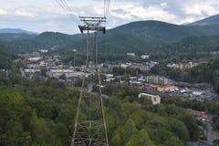 Widok od Ober Gatlinburg w Tennessee Fotografia Royalty Free