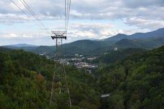 Widok od Ober Gatlinburg w Tennessee Zdjęcia Stock