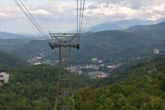 Widok od Ober Gatlinburg w Tennessee Obraz Stock