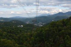 Widok od Ober Gatlinburg w Tennessee Fotografia Stock