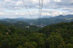 Widok od Ober Gatlinburg w Tennessee Obrazy Stock