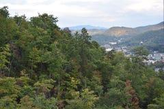 Widok od Ober Gatlinburg w Tennessee Zdjęcia Royalty Free