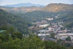 Widok od Ober Gatlinburg w Tennessee Zdjęcie Stock