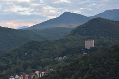 Widok od Ober Gatlinburg w Tennessee Obrazy Royalty Free