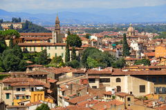 Widok od obserwacja pokładu na mieście Florencja Obrazy Royalty Free